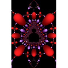 Fractal Red Violet Symmetric Spheres On Black 5 5  X 8 5  Notebooks by BangZart