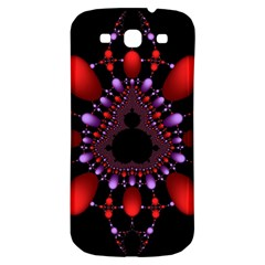 Fractal Red Violet Symmetric Spheres On Black Samsung Galaxy S3 S Iii Classic Hardshell Back Case by BangZart
