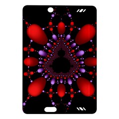 Fractal Red Violet Symmetric Spheres On Black Amazon Kindle Fire Hd (2013) Hardshell Case by BangZart