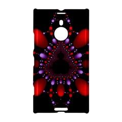 Fractal Red Violet Symmetric Spheres On Black Nokia Lumia 1520 by BangZart