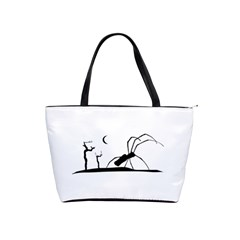 Dark Scene Silhouette Style Graphic Illustration Shoulder Handbags by dflcprints