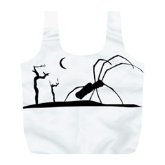 Dark Scene Silhouette Style Graphic Illustration Full Print Recycle Bags (l)  by dflcprints