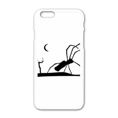 Dark Scene Silhouette Style Graphic Illustration Apple Iphone 6/6s White Enamel Case by dflcprints