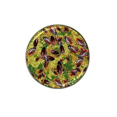 Cockroaches Hat Clip Ball Marker (4 Pack) by SuperPatterns