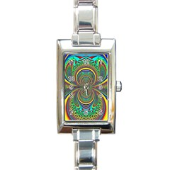 Hot Hot Summer B Rectangle Italian Charm Watch by MoreColorsinLife