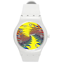 Hot Hot Summer C Round Plastic Sport Watch (m) by MoreColorsinLife