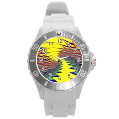 Hot Hot Summer C Round Plastic Sport Watch (l) by MoreColorsinLife