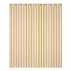 Stripes Pink And Green  Line Pattern Shower Curtain 60  X 72  (medium)  by paulaoliveiradesign
