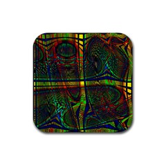 Hot Hot Summer D Rubber Coaster (square)  by MoreColorsinLife