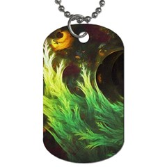 A Seaweed s Deepdream Of Faded Fractal Fall Colors Dog Tag (two Sides) by beautifulfractals