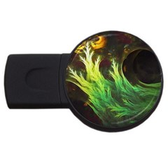 A Seaweed s Deepdream Of Faded Fractal Fall Colors Usb Flash Drive Round (4 Gb) by beautifulfractals