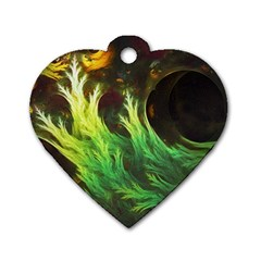 A Seaweed s Deepdream Of Faded Fractal Fall Colors Dog Tag Heart (two Sides) by beautifulfractals