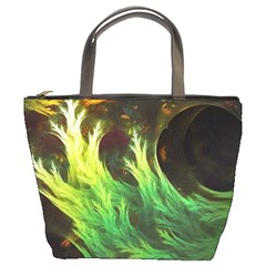 A Seaweed s Deepdream Of Faded Fractal Fall Colors Bucket Bags by beautifulfractals