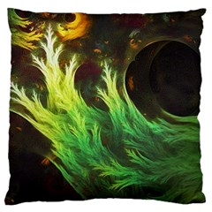 A Seaweed s Deepdream Of Faded Fractal Fall Colors Large Cushion Case (two Sides) by jayaprime