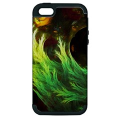 A Seaweed s Deepdream Of Faded Fractal Fall Colors Apple Iphone 5 Hardshell Case (pc+silicone) by beautifulfractals