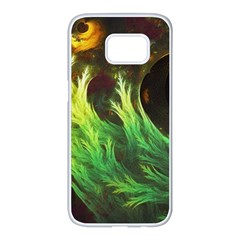 A Seaweed s Deepdream Of Faded Fractal Fall Colors Samsung Galaxy S7 Edge White Seamless Case by beautifulfractals