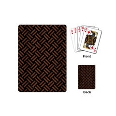 Woven2 Black Marble & Brown Wood Playing Cards (mini) by trendistuff