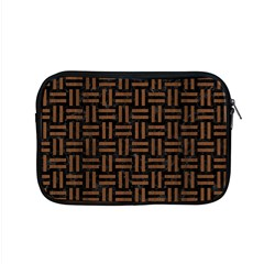 Woven1 Black Marble & Brown Wood Apple Macbook Pro 15  Zipper Case by trendistuff