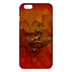 Golden Clef On Vintage Background Iphone 6 Plus/6s Plus Tpu Case by FantasyWorld7