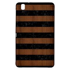 Stripes2 Black Marble & Brown Wood Samsung Galaxy Tab Pro 8 4 Hardshell Case by trendistuff