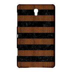 Stripes2 Black Marble & Brown Wood Samsung Galaxy Tab S (8 4 ) Hardshell Case  by trendistuff