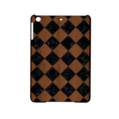 Square2 Black Marble & Brown Wood Apple Ipad Mini 2 Hardshell Case by trendistuff