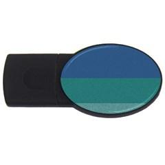 Blue Gradient Glitter Texture Pattern  Usb Flash Drive Oval (2 Gb) by paulaoliveiradesign