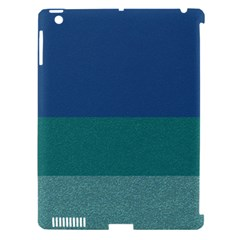 Blue Gradient Glitter Texture Pattern  Apple Ipad 3/4 Hardshell Case (compatible With Smart Cover) by paulaoliveiradesign