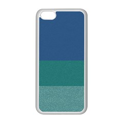 Blue Gradient Glitter Texture Pattern  Apple Iphone 5c Seamless Case (white) by paulaoliveiradesign