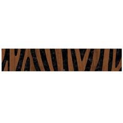 Skin4 Black Marble & Brown Wood (r) Flano Scarf (large) by trendistuff