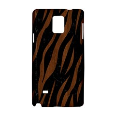 Skin3 Black Marble & Brown Wood Samsung Galaxy Note 4 Hardshell Case by trendistuff