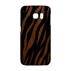 Skin3 Black Marble & Brown Wood Samsung Galaxy S6 Edge Hardshell Case by trendistuff