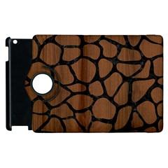 Skin1 Black Marble & Brown Wood Apple Ipad 2 Flip 360 Case by trendistuff