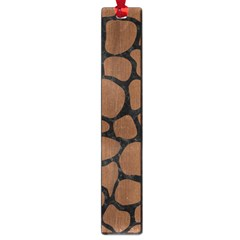 Skin1 Black Marble & Brown Wood Large Book Mark by trendistuff