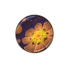 Beautiful Violet & Peach Primrose Fractal Flowers Hat Clip Ball Marker by beautifulfractals