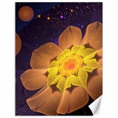 Beautiful Violet & Peach Primrose Fractal Flowers Canvas 18  X 24   by beautifulfractals