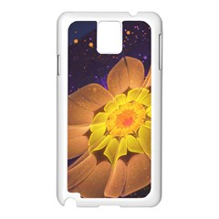 Beautiful Violet & Peach Primrose Fractal Flowers Samsung Galaxy Note 3 N9005 Case (white) by jayaprime