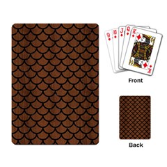 Scales1 Black Marble & Brown Wood (r) Playing Cards Single Design by trendistuff