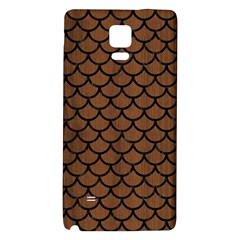 Scales1 Black Marble & Brown Wood (r) Samsung Note 4 Hardshell Back Case by trendistuff