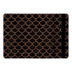 Scales1 Black Marble & Brown Wood Apple Ipad Pro 10 5   Flip Case by trendistuff