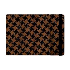 Houndstooth2 Black Marble & Brown Wood Apple Ipad Mini 2 Flip Case by trendistuff