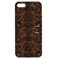 Damask2 Black Marble & Brown Wood (r) Apple Iphone 5 Hardshell Case With Stand by trendistuff