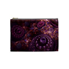 Buried Pirate Treasure Of Fractal Pearls And Coins Cosmetic Bag (medium)  by beautifulfractals