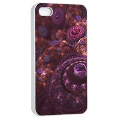 Buried Pirate Treasure Of Fractal Pearls And Coins Apple Iphone 4/4s Seamless Case (white) by beautifulfractals