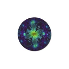 Blue And Green Fractal Flower Of A Stargazer Lily Golf Ball Marker (10 Pack) by beautifulfractals