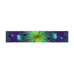 Blue And Green Fractal Flower Of A Stargazer Lily Flano Scarf (mini) by beautifulfractals