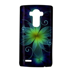 Blue And Green Fractal Flower Of A Stargazer Lily Lg G4 Hardshell Case by beautifulfractals
