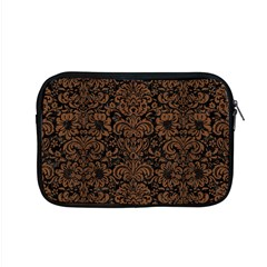 Damask2 Black Marble & Brown Wood Apple Macbook Pro 15  Zipper Case by trendistuff