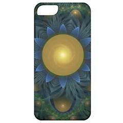 Beautiful Orange & Blue Fractal Sunflower Of Egypt Apple Iphone 5 Classic Hardshell Case by beautifulfractals