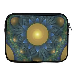 Beautiful Orange & Blue Fractal Sunflower Of Egypt Apple Ipad 2/3/4 Zipper Cases by beautifulfractals